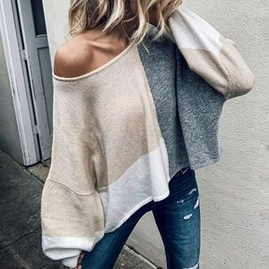 Summer Sands Color-Block Sweater